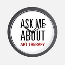 Ask Me About Art Therapy Wall Clock