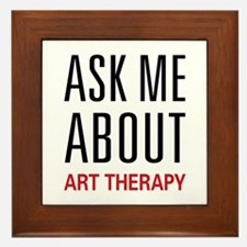Ask Me About Art Therapy Framed Tile