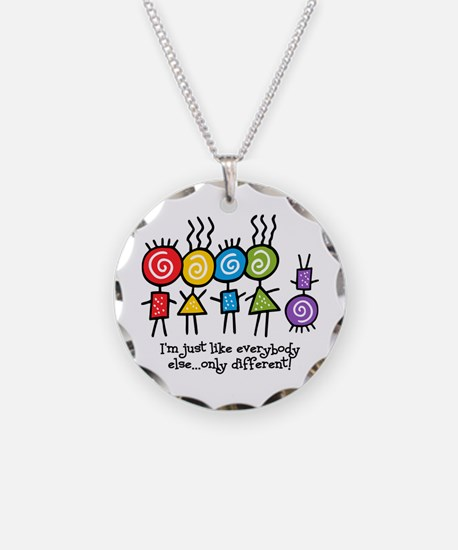 Same Only Different Necklace Circle Charm