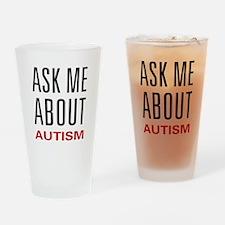 Ask Me Autism Pint Glass