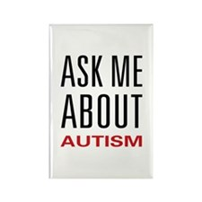 Ask Me Autism Rectangle Magnet (10 pack)