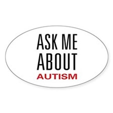 Ask Me Autism Oval Decal