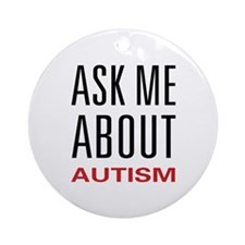 Ask Me Autism Ornament (Round)