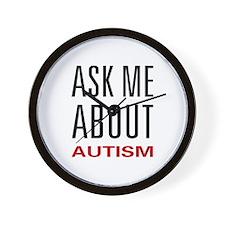 Ask Me Autism Wall Clock