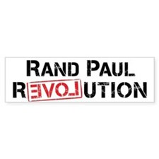 Rand Paul Revolution Bumper Bumper Sticker