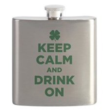 Keep Calm And Drink On Flask