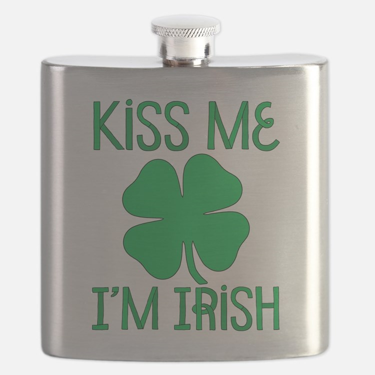 Kiss Me I'M Irish Flask