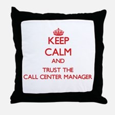 Keep Calm and Trust the Call Center Manager Throw
