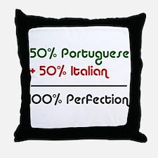 Half Italian, Half Portuguese Throw Pillow