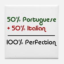 Half Italian, Half Portuguese Tile Coaster