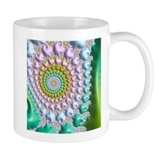 sweety, special fractal,green Mugs