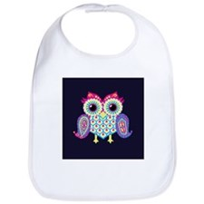 Eastern Owl (Navy Blue Background) Bib