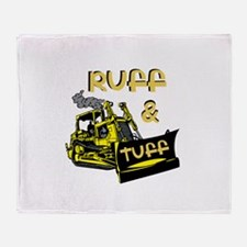Ruff and Tuff Dozer Throw Blanket