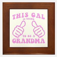 Going To Be A Grandma Framed Tile