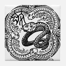 Chinese Zodiac – Snake Tile Coaster