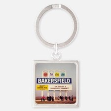 Bakersfield Sun Fun Stay Play Square Keychain