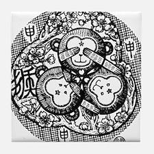 Chinese Zodiac – Monkey Tile Coaster