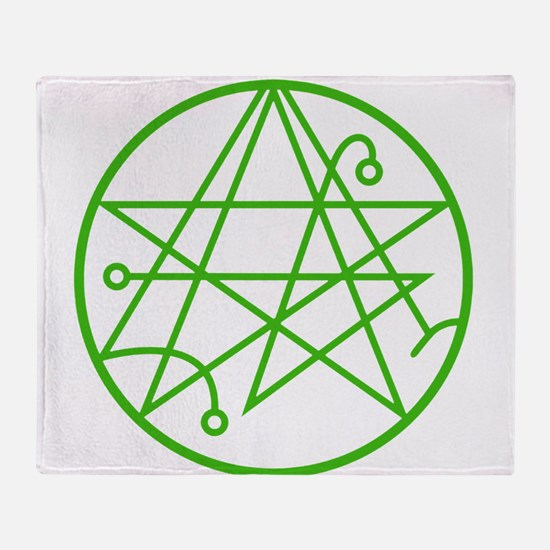 Cthulhu - Sigil of the Gateway Throw Blanket
