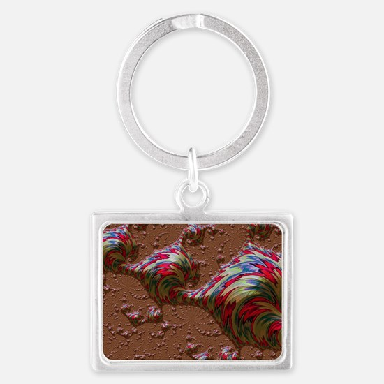 ocean special fractal red Keychains