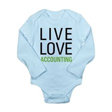 Live Love Accounting Long Sleeve Infant Bodysuit