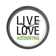 Live Love Accounting Wall Clock