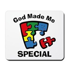 Autism God Made Me Special Mousepad