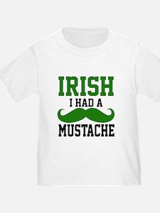 Cute Irish mustache T