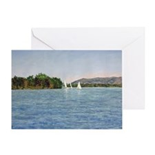 Trio of Sailboats, SML Greeting Card