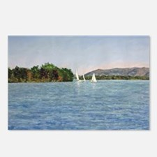 Trio of Sailboats, SML Postcards (Package of 8)