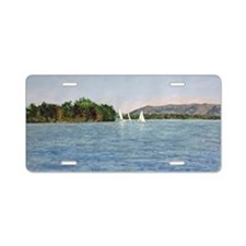 Trio of Sailboats, SML Aluminum License Plate