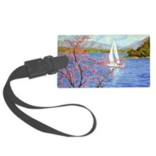 Spring Sail on Smith Mountain La Luggage Tag