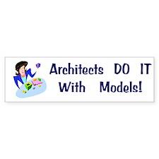 Architects Gift Bumper Car Sticker