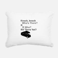 RV Knock, knock Rectangular Canvas Pillow