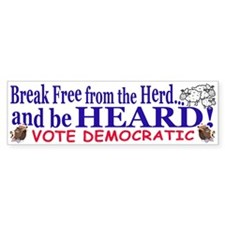 Be Heard Vote Democrat Bumper Bumper Sticker