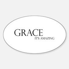 Black Grace It's Amazing Oval Decal