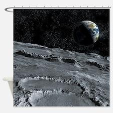 Moon Surface Shower Curtain