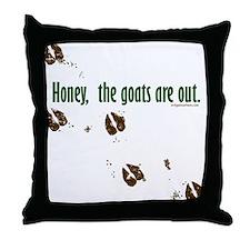 Unique Pygmy goats Throw Pillow
