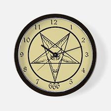 Baphomet Acient Wall Clock