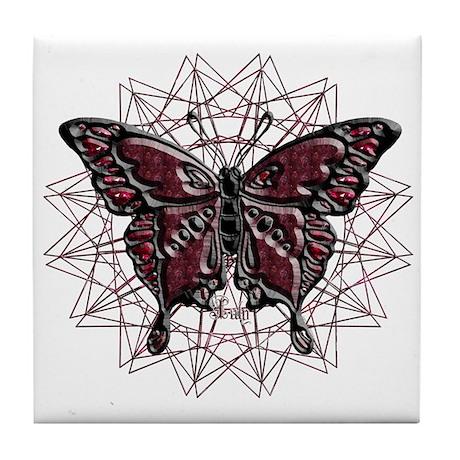 July Birthstone Butterfly Tile Coaster