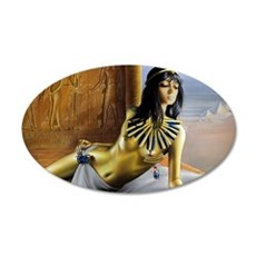 The Gilded Princess 35x21 Oval Wall Decal