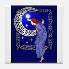 Celtic Moon Woman Tile Coaster