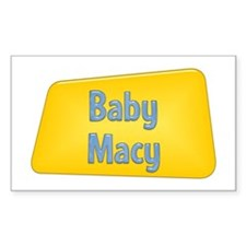 Baby Macy Rectangle Decal