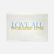 Love All Rectangle Magnet (10 pack)