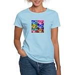 POKER DOGS Women's Light Blue T-Shirt