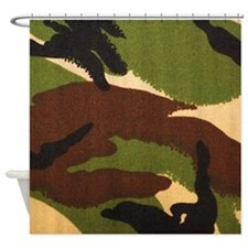 Camo British Dpm Shower Curtain