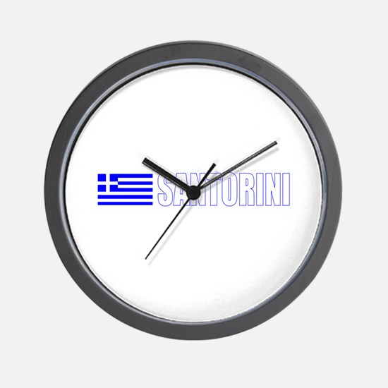 Santorini, Greece Wall Clock