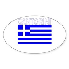Santorini, Greece Oval Decal