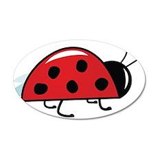 Side View Ladybug Wall Decal