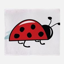 Side View Ladybug Throw Blanket