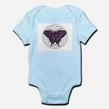 February Birthstone Butterfly Infant Bodysuit